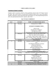 Sample syllabus 1