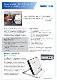Broadband Satellite IP Terminal and WLAN Access Point