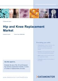 Hip and Knee Replacement Market - Datamonitor