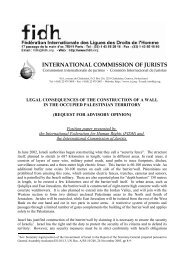 Legal consequences of the construction of the wall in the Occup - FIDH