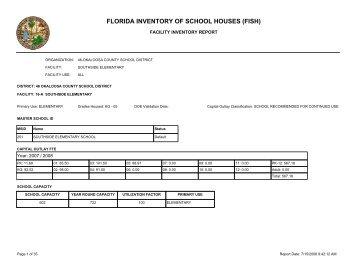 FLORIDA INVENTORY OF SCHOOL HOUSES (FISH) - Okaloosa ...