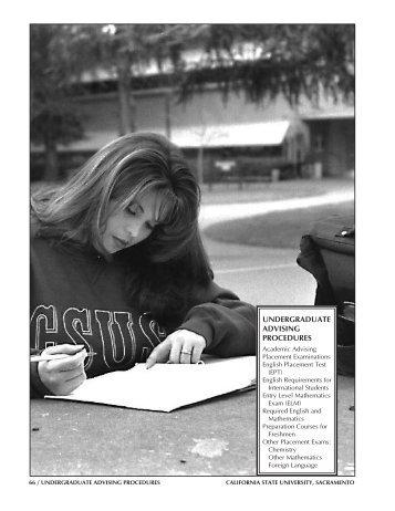 undergraduate advising procedures - Previous Catalogs - California ...