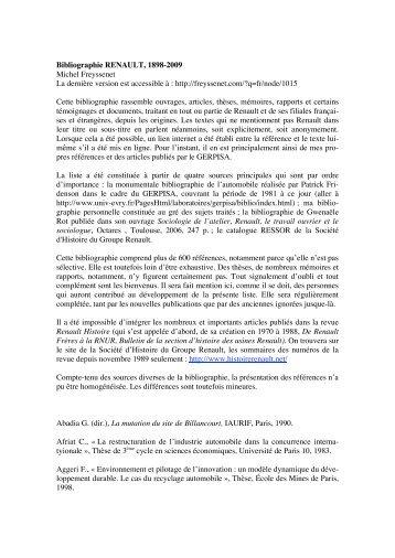 Bibliographie Renault 1898 2009.pdf - Michel Freyssenet