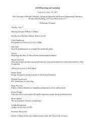 Agenda and List of Participants - alemi.ca