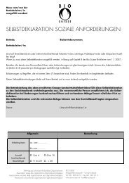 Bio-Suisse: Selbstdeklarationsbogen
