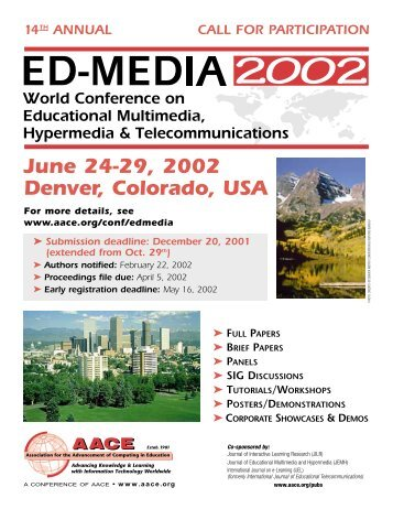 June 24-29, 2002 Denver, Colorado, USA - Association for the ...