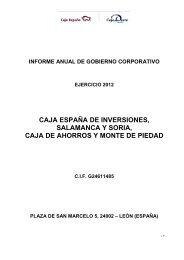 Informe Anual de Gobierno Corporativo 2012 - Caja España-Duero