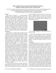 Effect of Microstructure on Electrical and Mechanical Properties ...