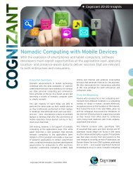 Nomadic Computing with Mobile Devices - Cognizant