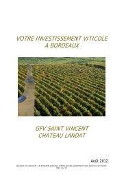 votre investissement viticole a bordeaux gfv saint vincent chateau ...