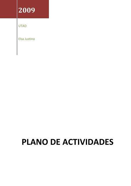 Plano de Atividades 2009 - Universidade de Trás-os-Montes e Alto ...