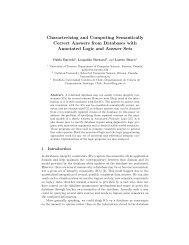 Characterizing and Computing Semantically ... - ResearchGate