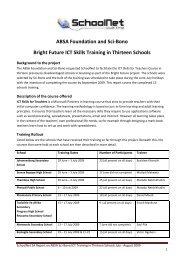 SciBono ABSA ICT Skills 13 Schools