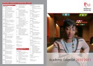 Academic Calendar 2010-2011