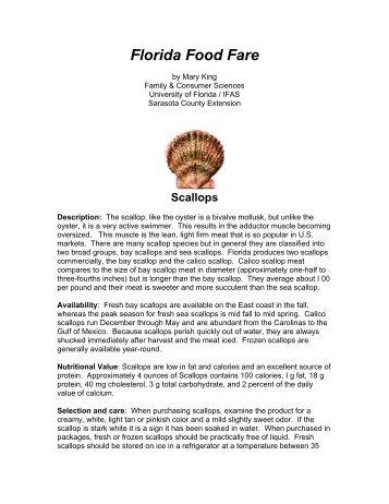 Florida Food Fare - Sarasota County Extension - University of Florida