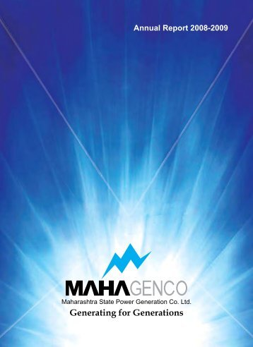 annual report 2008-2009 (english) - Mahagenco