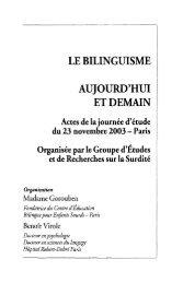 Bilinguisme - Biculturalisme - ctnerhi