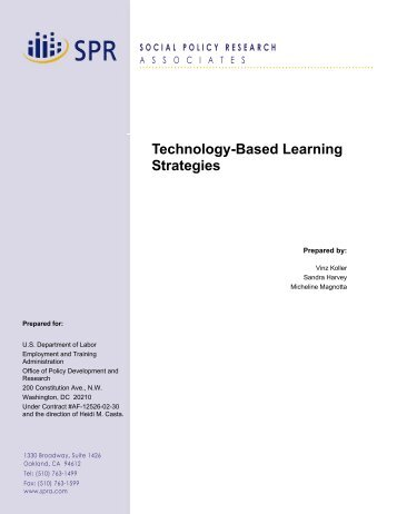 Technology-Based Learning Strategies Report - APEC HRDWG Wiki