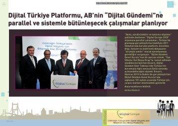 """Dijital Türkiye Platformu, AB'nin """"Dijital Gündemi""""ne ... - Bilişim Dergisi"""