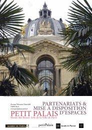 Télécharger la brochure de location des espaces - Le Petit Palais ...