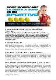 Come Modificare la Dieta a Zona se sei Sportivo Cos ... - Ultimate Italia