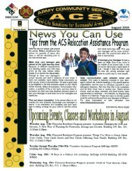 . Tips from the ACS eIoatiori Assistance Po9a m - Morale, Welfare ...