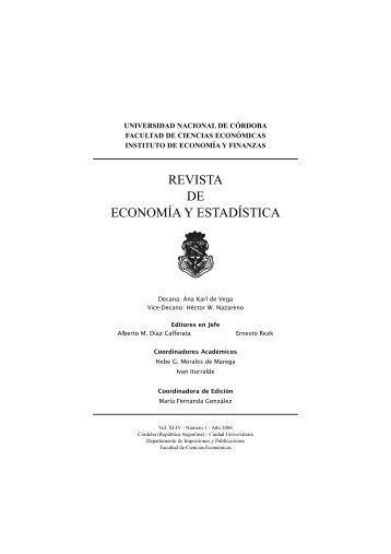 revista bien.qxp - Instituto de Economía y Finanzas - Universidad ...