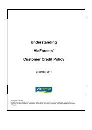 Understanding VicForests' Customer Credit Policy