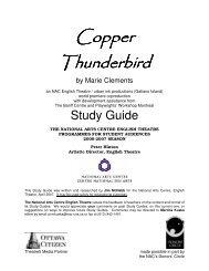 Copper Thunderbird Study Guide - National Arts Centre