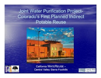 Joint Water Purification Project- Colorado's First Planned Indirect ...