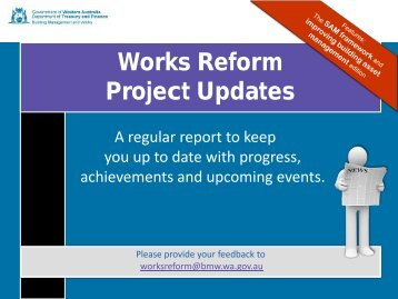 Works Reform Project Updates - Department of Finance