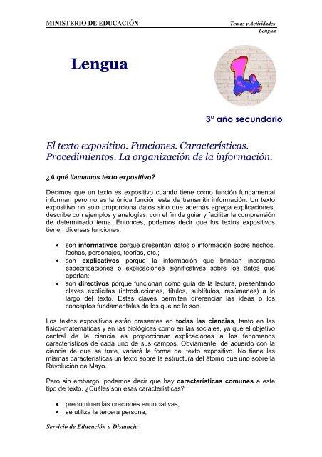 Estructura Del Texto Expositivo Y Sus Caracteristicas