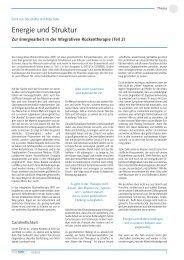 Energie und Struktur - Integrative Rückentherapie
