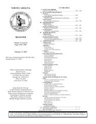 NC Register Volume 17 Issue 16 - Office of Administrative Hearings