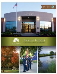 Annual Budget for Fiscal Year 2013-2014 - City of Elk Grove