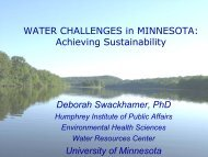here - Water Resources Center - University of Minnesota