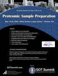 Proteomic Sample Preparation - Cambridge Healthtech Institute