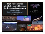 High Performance Visible and Infrared Sensors for Precise Radial