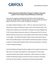 Grifols Expands its PatientCare Program to Address Insurance ...