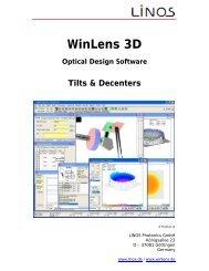 Manual WinLens 3D - Qioptiq Q-Shop