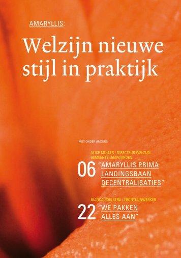 Brochure | Amarylllis: Welzijn nieuwe stijl in praktijk