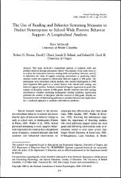 The Use of Reading and Behavior Screening Measures to ... - Uwi.edu