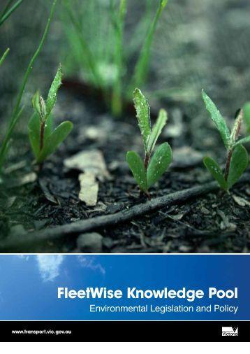 Fleetwise Knowledge Pool Environmental Legislation and Policy