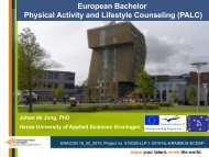 European Bachelor Physical Activity and Lifestyle ... - Eracon.info
