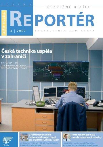 Reportér 2007/3 - AŽD Praha, sro