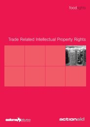 Trade Related Intellectual Property Rights - ActionAid