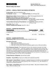 Ion Exchange Resin SM-52.pdf - Siemens Water Technologies