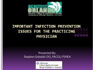 Infectious Disease vs. Infection Control