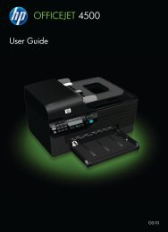 HP Officejet 4500 (G510) All-in-One series User Guide ... - IT Info