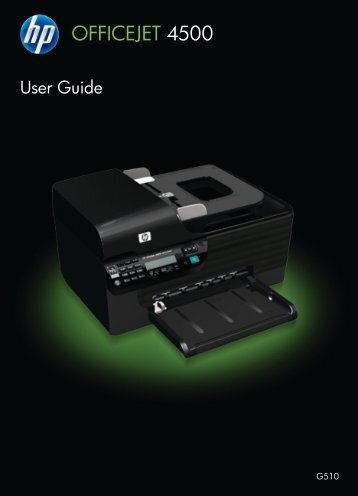 HP Officejet 4500 (G510) All-in-One series User Guide ... - IT Info
